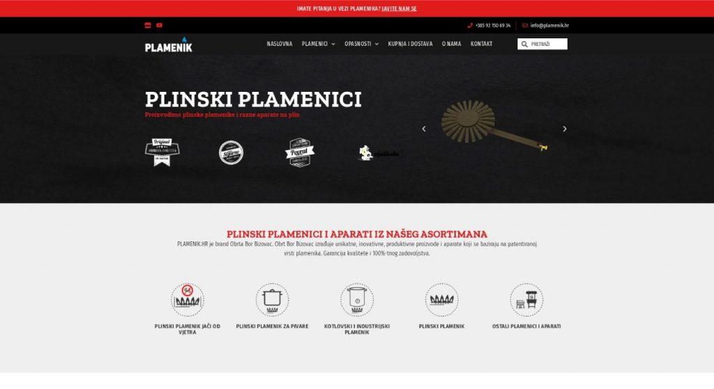 izrada web stranice plamenik.hr